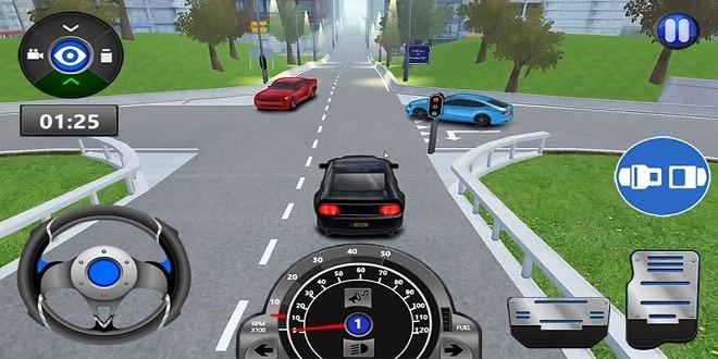 تطبيق Driving School لتعلم قيادة السيارة بمحاكاة الواقع Zeitapps